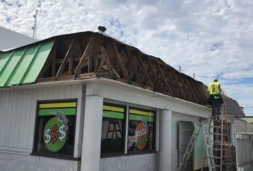 Instaloan metal mansard roof