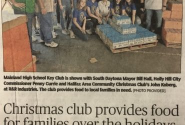 Community Christmas Club news paper article