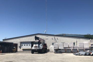 Crane and yard